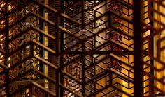 Asian deco style geometric wood patterns rock!