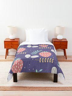 'Pretty Strawberry Fruit Garden' Comforter by Pamela Arsena
