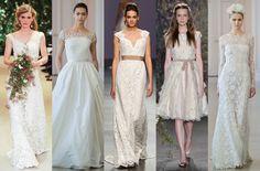 Romântica, boho, couture, normcore, tradicional... 50 vestidos de noiva que vão deixar você sem fôlego. Tá demais!