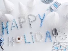 Use candy to spell out your excitement around the holidays. It's fun for kids and adults.