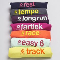 GIFTS FOR RUNNERS: You have your underwear. And you have your running. Now you can have them both in Oiselle's all new day-of-the-week underwear: Rundies! I Love To Run, Run Like A Girl, Just Run, Running Workouts, Fun Workouts, Running Gear, Workout Gear, Workout Days, Trail Running