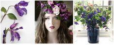 clematite mov - buchet si coronita florala mov Fashion, Corona, Moda, Fashion Styles, Fashion Illustrations