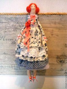 Купить Тильда - рыжий, кукла, кукла Тильда, кукла из ткани, куклы и игрушки, кукла интерьерная