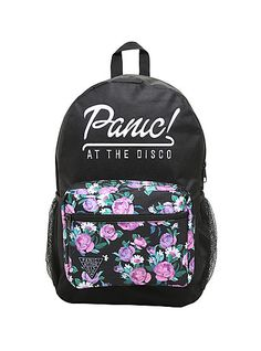 Panic! At The Disco Floral Embroidered BackpackPanic! At The Disco Floral Embroidered Backpack,