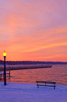 The Skaneateles Pier in Winter (USA) by Matt Champlin