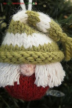 We're knit messing around with this elf ornament.
