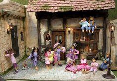 Princess Party Dollhouse Scene
