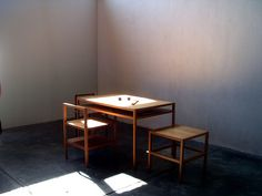 // donald judd - table and chairs.