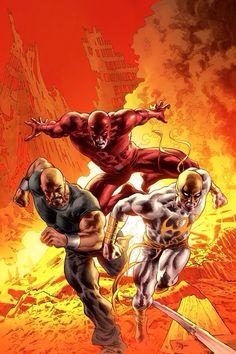 Dare Devil, Luke Cage & Iron Fist.