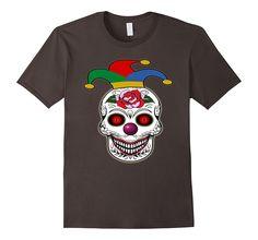 Scary Clown Skull Halloween Shirt-Scary Clown Night Tee