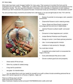 """Witch Crafts: Witch Ball saltwaterwitchery: """" Witch balls have been a part of pagan tradition for many years. Their purpose is to protect the home and its inhabitants from evil and harm. Green Witchcraft, Wiccan Witch, Pagan Yule, Wiccan Magic, Jar Spells, Magick Spells, Bijoux Wiccan, Witch Spell, Witch Wand"""