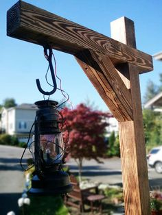 DIY Haunted walkway lantern posts