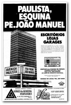 Anuncio de lancamento do edificio Barão de Itatiaya que foi incorporado e construído pela Gomes de Almeida Fernandes na avenida Paulista. O Estado de S.Paulo - 20/8/1970