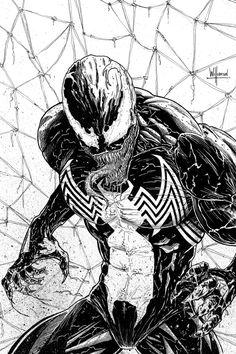I imagine something like this: Spidey: Venom, calm down or I'll knock you out! Venom: BRING IT ON!!
