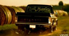 just married pick up truck. needs some cans tied to the bumper