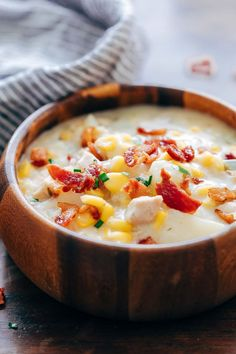 This Instant Pot chicken potato corn chowder is a delicious thick, creamy, hearty soup thats perfect comfort food for winter. Its a one pot meal, made easily in an electric pressure cooker or on the stovetop and takes about 30 minutes from start to finish.