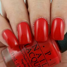 OPI I STOP For Red swatched by Olivia Jade Nails