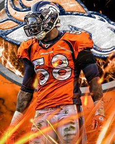 e2f4be25c The Broncos are my favorite football team and Von Miller is my favorite  player of all time