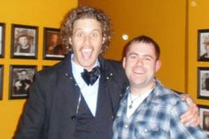 TJ Miller with John Egan at Skyline in Appleton