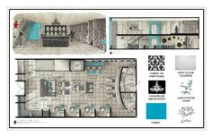 Spa Floor Plan On Floor In Spa Plan Design 5 Related with Nail Salon Design, Interior Design Boards, Beauty Salon Design, Interior Design Portfolios, Beauty Salons, Layout Design, Cafe Design, Bakery Design, Interior Design Presentation