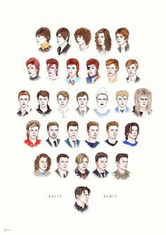 David Bowie (January 8, 1947 – January 10, 2016) – tribute illustrations by Helen Green. This is sad news today! On January 10, 2016, David Bowie dies aged 69 after 18-month battle with cancer. That's...