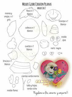 Felt Animal Patterns, Stuffed Animal Patterns, Dog Template, Templates, Felt Animals, Paper Piecing, Crafts For Kids, Banner, Paper Crafts