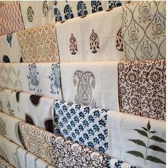 Les Indiennes. (Photo taken by @elanakilkenny on Instagram) #textiles #handblocked #indiantextiles