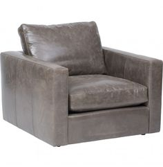 Miller Leather Chair, Libby Storm - Furniture - Chairs - Leather also brown $1300