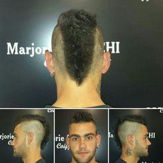 Coupe homme tendance Iroquoise! Chez votre coiffeur à clermont l'hérault. http://www.marjoriecherchicoiffure.com http://www.marjorie-coiffure.fr