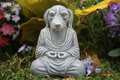 Dog Buddha Meditating Mongrel  Zen Garden Statue by PhenomeGNOME, $24.99