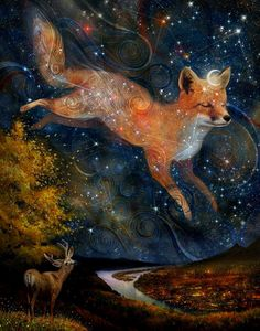 "pagewoman: "" Fox in the Stars by Meluseena """
