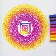 Instagram mandala Drawn with Stabilo Point 88 fineliners