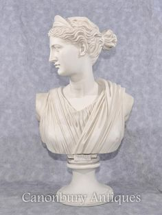 Classic Italian Stone Bust Diana the Hunter Statue Sculpture Marble Bust, Roman Mythology, Classic Italian, Close Up Photos, Ancient Romans, Diana, Sculpture, Statue, Beautiful