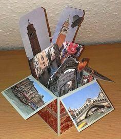 Mamapias-Stempelecke: Card in a Box Venedig