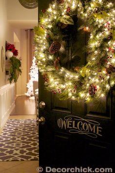 Christmas Door to Home Tour | www.decorchick.com