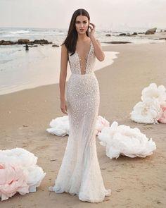 30 Totally Unique Fashion Forward Wedding Dresses ❤ fashion forward wedding dresses trumpet illusion plunging neckline lee grebenau #weddingforward #wedding #bride #weddingoutfit #bridaloutfit #weddinggown