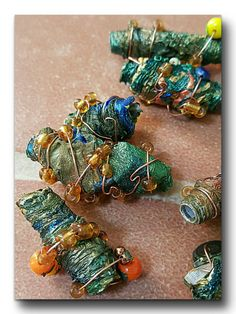 Upcycled recycled beads Fantasy Bling by OutOfTimeDesignBeads