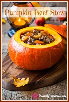 This hearty beef stew baked in a pumpkin will stick to your ribs and is the perfect meal for the cooler days of Autumn. Learn how to make it here!