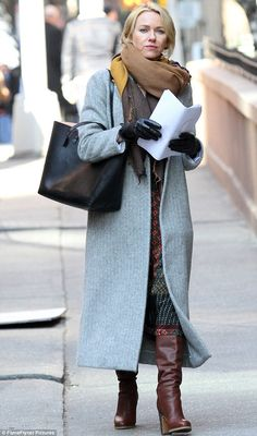 Working hard! Naomi Watts, 48,  was spotted on the New York set of her Netflix series Gyps...