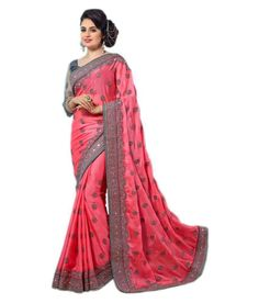 4d5ced8bd22c Indian Women New Wedding Party Wear Saree Ethnic Embroidered Pink Chiffon  Sari #fashion #clothing