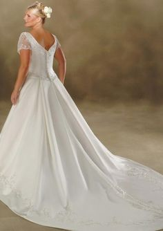 Gorgeous Sweetheart Chapel Train Lace Dress, Wedding Dresses Online