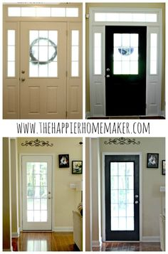 Bring A Custom Look Into Your Home With This Diy Tutorial For Painting Interior Doors Black