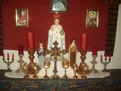 The focal point of a Catholic home should be the family altar. This would be a place in which the family can gather to offer their prayers to God and ask the Saints to pray for them.