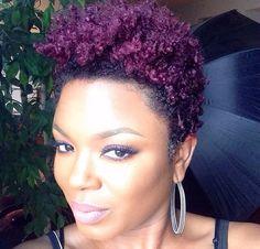 #TeamNatural I love purple hair!! #KissColor #IntensePurple