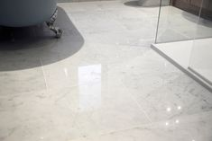 Italian Carrara polished marble tiles available in large and small sizes for floor and wall bathroom tiles. Marble Floor, Carrara Marble, Tile Floor, Marble Tiles, Marble Polishing, Stone Tiles, Floor Design, White Marble, Mosaic Tiles