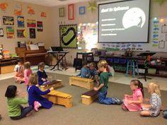 Make Music Rock!: Kindergartners on xylophones.
