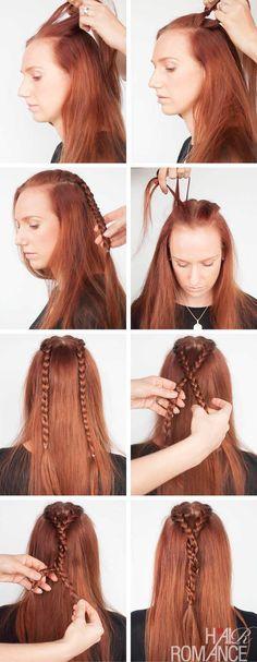 Sansa Stark hairstyle tutorial