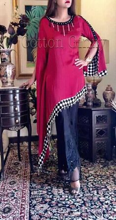 Dress Designs For Girls, Stylish Dresses For Girls, Stylish Dress Designs, Casual Dresses, Girls Dresses, Dresses Dresses, Dresses Online, Pakistani Fashion Casual, Pakistani Dress Design