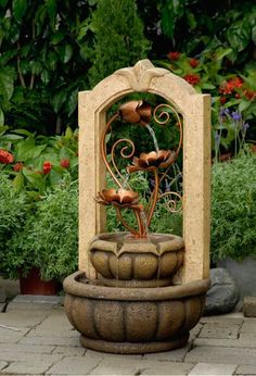 Classical Outdoor/Indoor Water Fountain With Metal Flower Fountain Cellar,http://www.amazon.com/dp/B00FJI3TL0/ref=cm_sw_r_pi_dp_392atb0MKG6BPV9G
