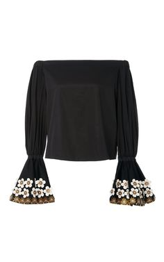 Juniper Off the Shoulder Black Top by ALEXIS Now Available on Moda Operandi